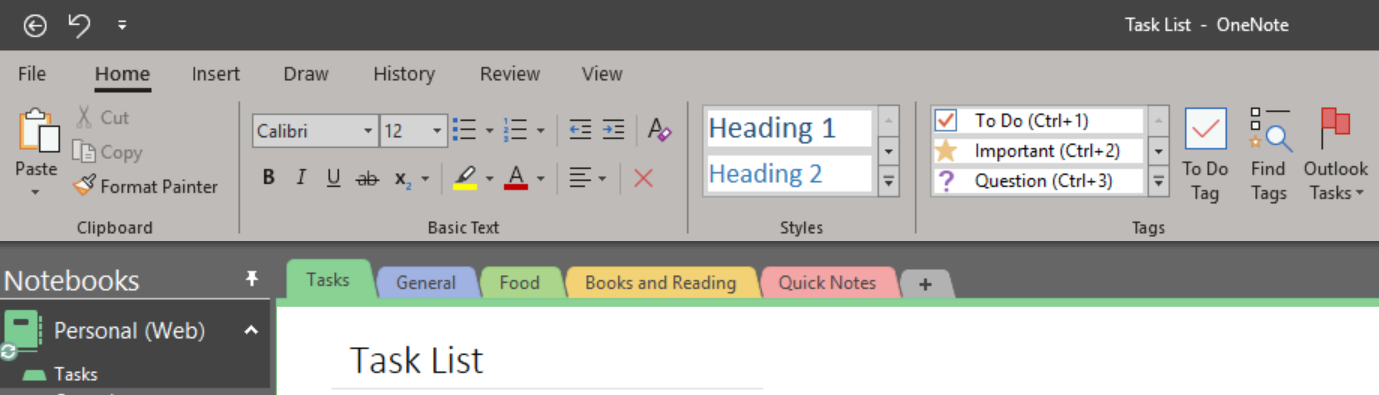 How I Work – Using OneNote For My Daily Task List